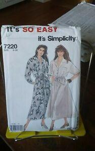 Oop-Simplicity-Easy-7220-misses-dress-full-skirt-collar-drop-sleeve-sz-8-20-NEW
