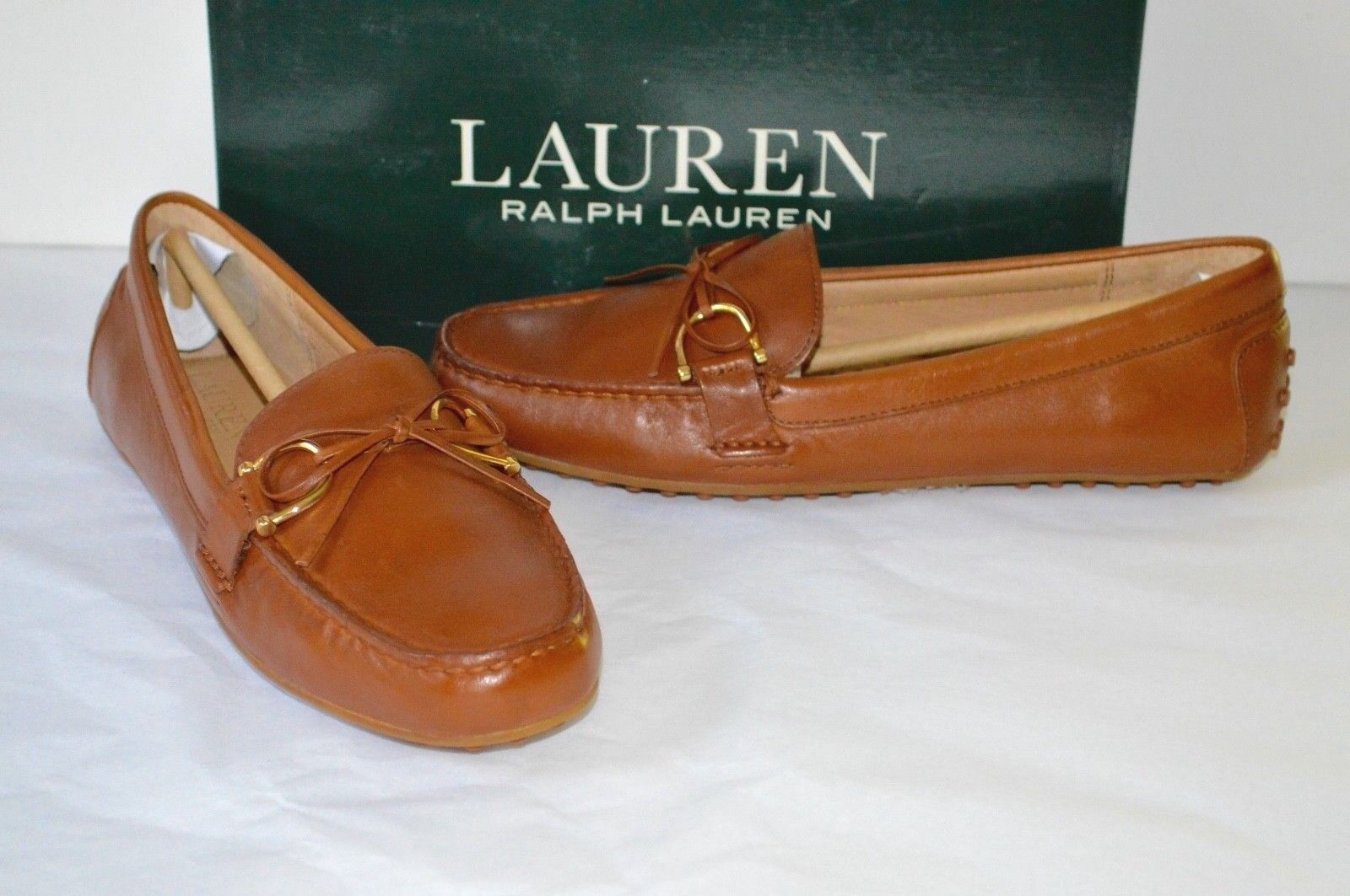 ba0c3def441 Women s Ralph Lauren Briley Driving Moccasins Loafers Soft Leather ...