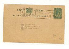AB144 Bermuda USA Mass UPU 25th Anniversary Postcard Postal Stationery PTS