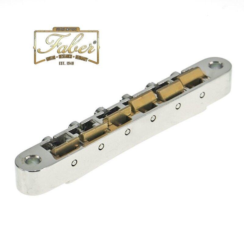 Faber ABRH-59-BG, ABRH59BG,fits Historic ABR Bridge 6-32 (3,6mm) Brass Saddles