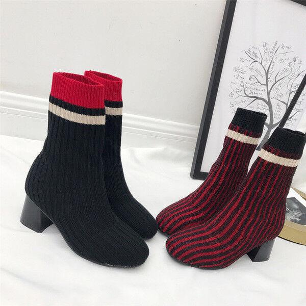 botas bajo zapatos tobillo rojo negro 5 elegantes como piel 9643