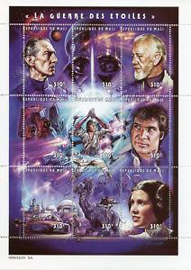 Mali-1997-MNH-Star-Wars-Luke-Skywalker-Han-Solo-Darth-Vader-9v-M-S-Stamps