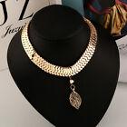 Fashion Women Crystal Metal Collar Chain Pendant Necklace Bib Choker Jewelry