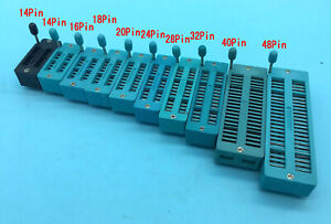 14//16//18//20//24//28//32//40 pin IC Test Universal ZIF Socket Pip BB