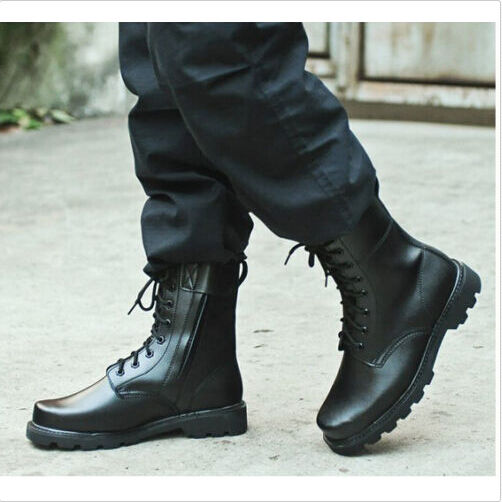 Men Military Mid Calf Boots Army Motorcycle Tactical Lace Up New Combat shoes G2