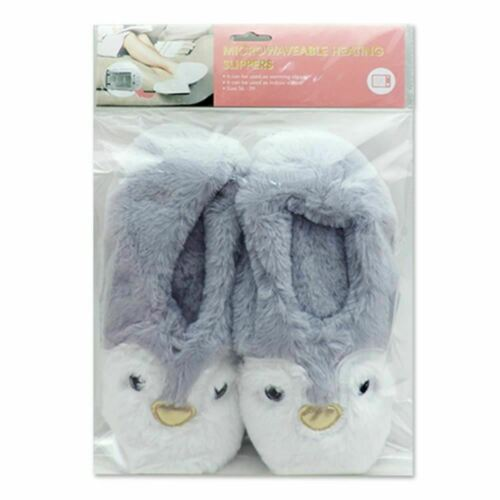 One Size Gift//Stocking Filler Penguin Heat Pack Toesties Warmer Slippers