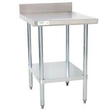 30 X 24 Stainless Steel Work Prep Shelf Table Commercial 4 Backsplash Nsf