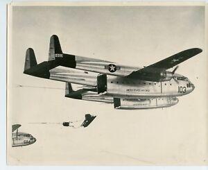 Korean-War-US-Air-Force-Cargo-Heavy-Drop-Photo-C-119-Flying-Box-Car-Photograph