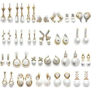 Earrings-And-Sleepers-Cultured-Pearl-Gold-Plated-Jewelry-of-Your-Choice