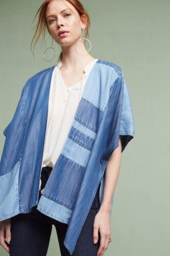 Taglia In Kimono Nuovo Cloth Chambray Jeans Patchwork Stone Szone Well q4t7SU