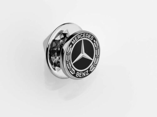 Original Mercedes Benz Stick Badge Pin Brooch Laurel Wreath Logo Lettering
