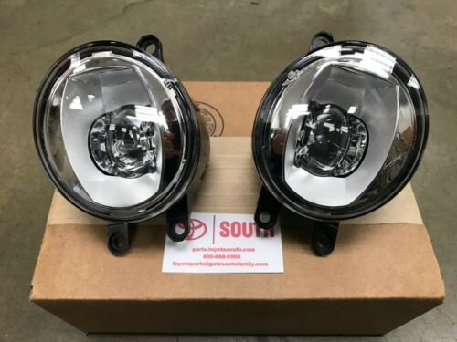 Genuine OEM Toyota LED Fog Light Upgrade Kit Chrome Bezel PT413-42190