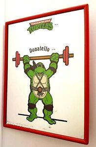 TMNT-Mirror-1990-Donatello-Donnie-Plaque-Teenage-Mutant-Ninja-Turtles-Vintage