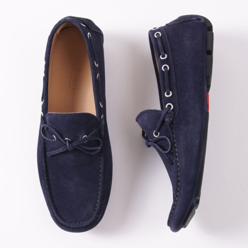 Kiton mocassins marineblauw loafers 9 schoenen Penpunt950 ons drijvende kalfssuède 53ARc4qLj