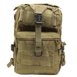 20L-Outdoor-Military-Tactical-Backpack-Rucksack-Hiking-Camp-Travel-Bag-Tan