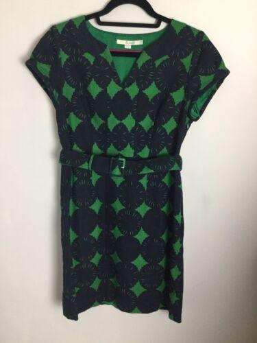Formato 12uk in cotone floreale Abito Ex motivo verde nero cond e con FqSnRwT