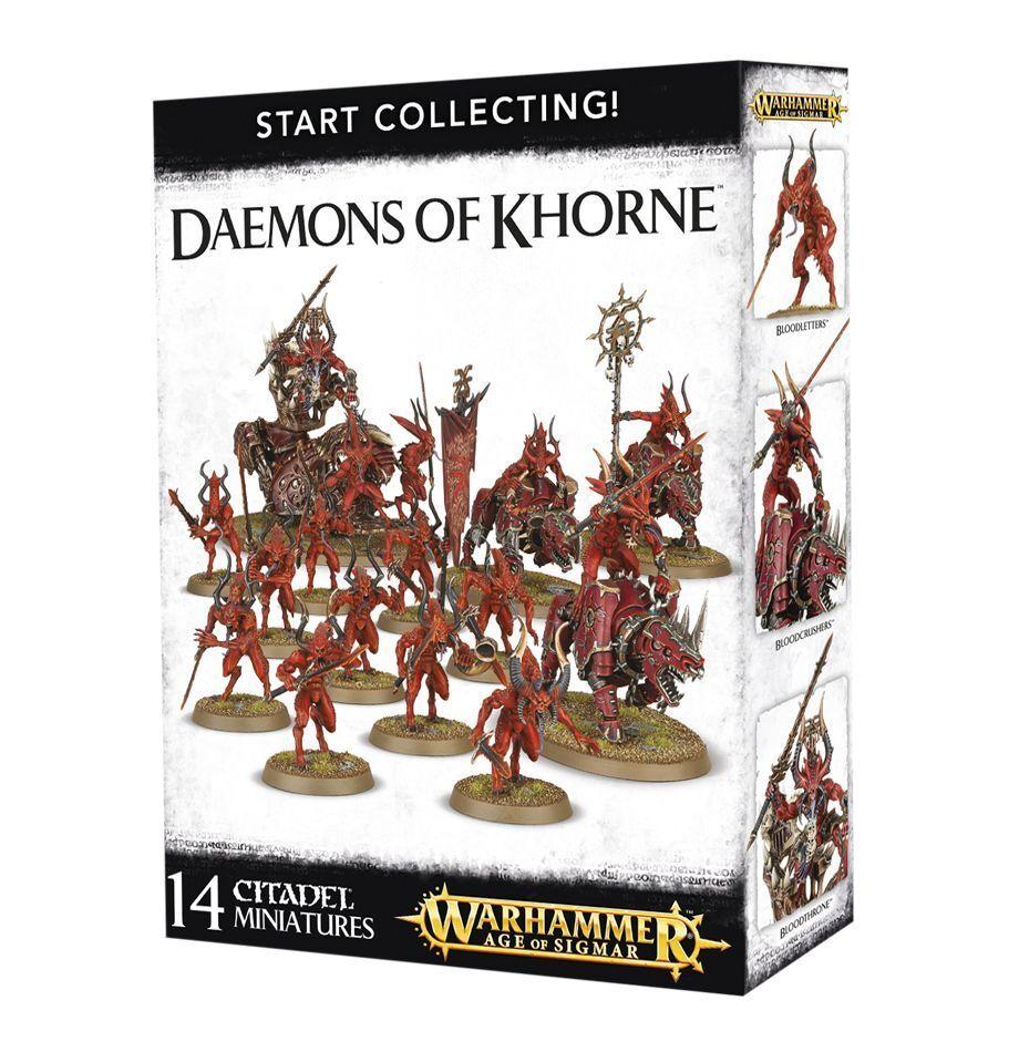Start Collecting Daemons of Khorne Warhammer AOS 40K. 20% off UK rrp.