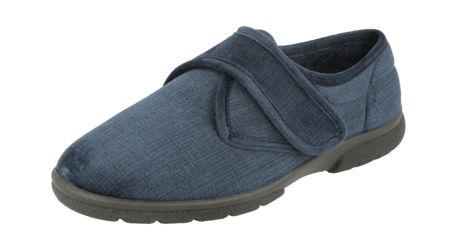 DB  Hallam MENS WIDE DIABETIC ORTHOPAEDIC EASY CLOSE WIDE MENS FIT SLIPPERS SHOES 24694c