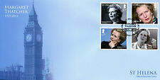 St Helena 2013 FDC Margaret Thatcher in Memoriam 4v Set Cover Big Ben Stamps