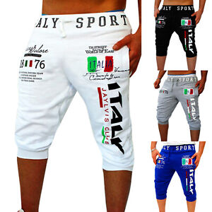 Men-Summer-Casual-Sports-Jogger-Shorts-Beach-Cropped-Pants-3-4-Knee-Gym-Trousers