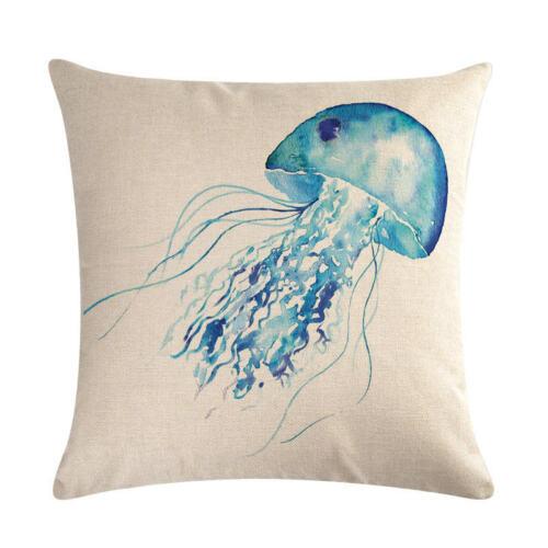 Méduse /& Poisson Rouge Oreiller Cover Throw Pillow Case Cushion Cover Home Decor