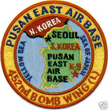 USAF BASE PATCH, PUSAN EAST AIR BASE, KOREA, 452ND BW, GONE BUT NOT FORGOTTEN  Y