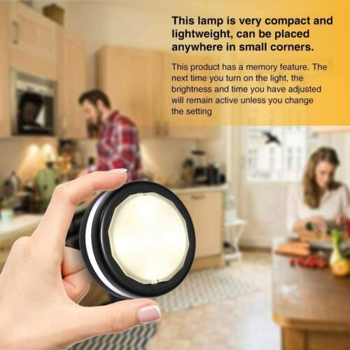 LED Puck Light Wireless Under Cabinet Lights Night Light with Remote Control UK