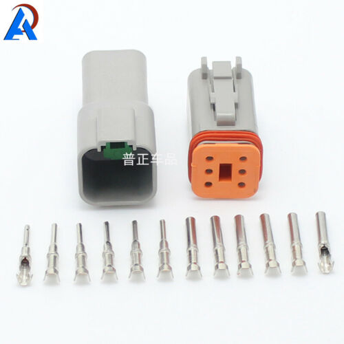 6 Pin Waterproof Electrical Wire Connector Plug Auto DT06-6S AND DT04-6P 1sets