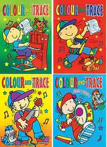 Set-4-x-A4-Colour-amp-Trace-Books-Tracing-Paper-Childrens-Art-Activity-books-630