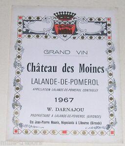 Ancienne-etiquette-Grand-Vin-Chateau-des-Moines-LALANDE-de-POMEROL-1967
