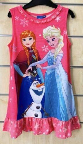 Frozen Die Eiskönigin Disney Mädchen Kleid Gr.98-134 Sommerkleid Kleidchen Pink