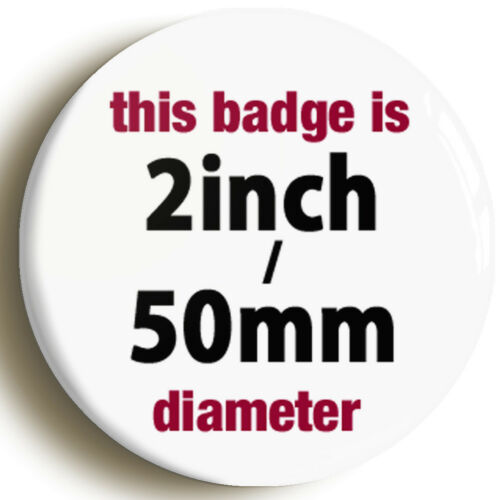 Size is 2inch // 50mm diameter ROCK GOD FUNNY BADGE BUTTON PIN