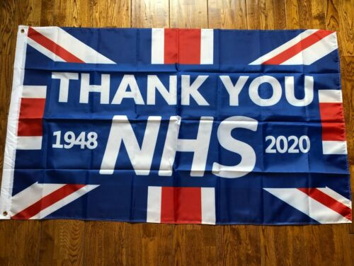 2020 NEW THANK YOU NHS UNION JACK Polyester FLAG 5ft X 3ft 10/% DONATION TO NHS