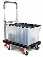 Magna Cart Flatform 4 Wheel Folding Hand Truck For Easy Transport W/ 300lbs Caps