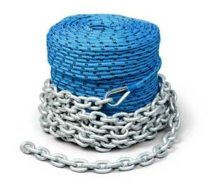 Boat Trac Winch Rope and Chain 200' x 1/4 rope 15' Galvanized Marine Chain Auto Parts & Accessories