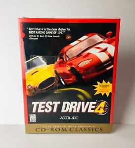 Test-Drive-4-PC-CD-ROM-EA-Classics-Big-Box-Game-1998-BRAND-NEW-SEALED