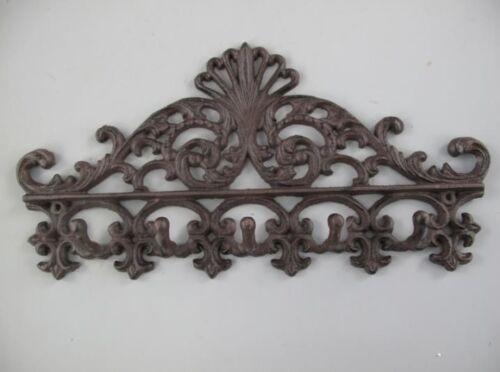 Wandhaken Garderobe Kleiderhaken Hängeaufbewahrung Eisen rustikal braun Vintage