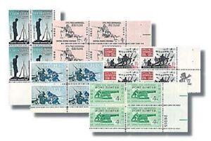 CIVIL-WAR-Centennial-Mint-NH-Set-of-5-Plate-Blocks-1178-1182-Compl-1961-65