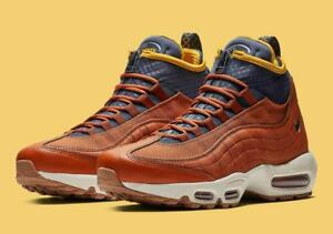 official photos 3f05e 69611 Details about 2018 Nike Air Max 95 SneakerBoot SZ 11 Russet Thunder Blue  Yellow 806809-204