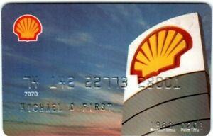 Shell Oil Company Credit Card Exp 2008 Free Shipping Ebay