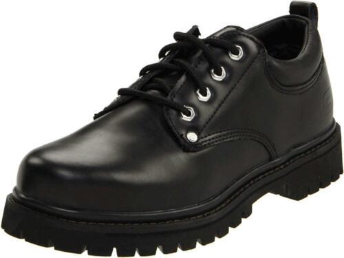 Skechers Men's Alley Cat Utility Shoe, Black Smoot