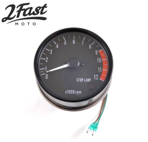 Kawasaki Tach Tachometer Gauge Meter 0-12,000 RPM Z1 900 25015-025 Replacement