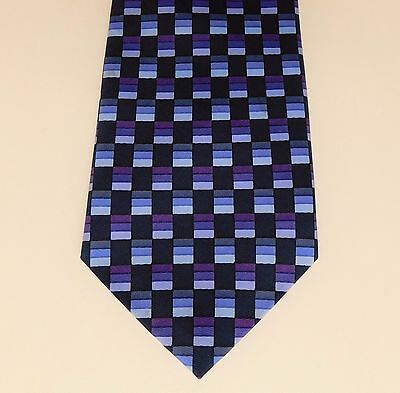 Burton Mens Wear check tie Purple and black