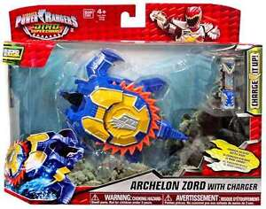 Power Rangers Dino Super Charge Figure Archelon Zord Avec Chargeur 3296580431083