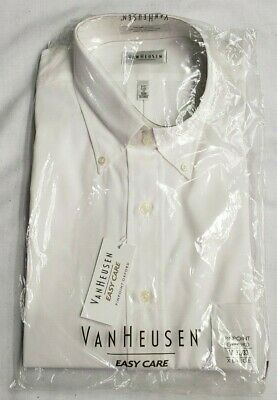 VanHeusen Easy Care Pinpoint Oxford Long Sleeve Men/'s Pale Yellow Shirt
