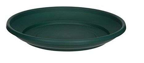 27cm Green Venetian Plastic Saucer For Round Planters