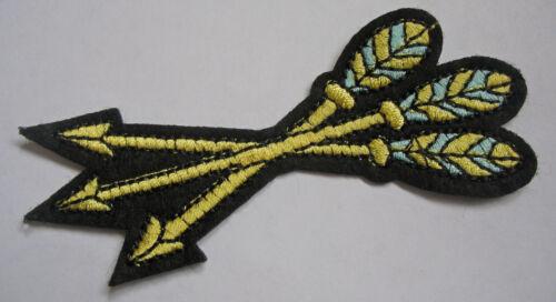 Aufnäher Pfeile Bogenschiessen Feder Patch Arrows Feather Indianer Western