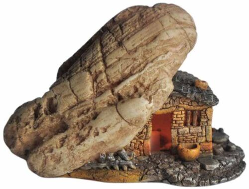 4064 Miniature Fairy Garden House with Light// Fairy Gnome Hobbit