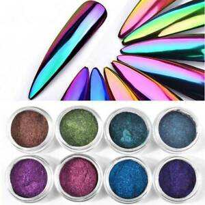 Pigmento-camaleon-Espejo-Efecto-Cromo-Polvo-Polvo-De-Escarcha-Holografica-Nail-Art