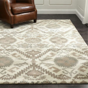 Crate Barrel Orissa Neutral Wool Handmade Area Rugs Carpet Ebay